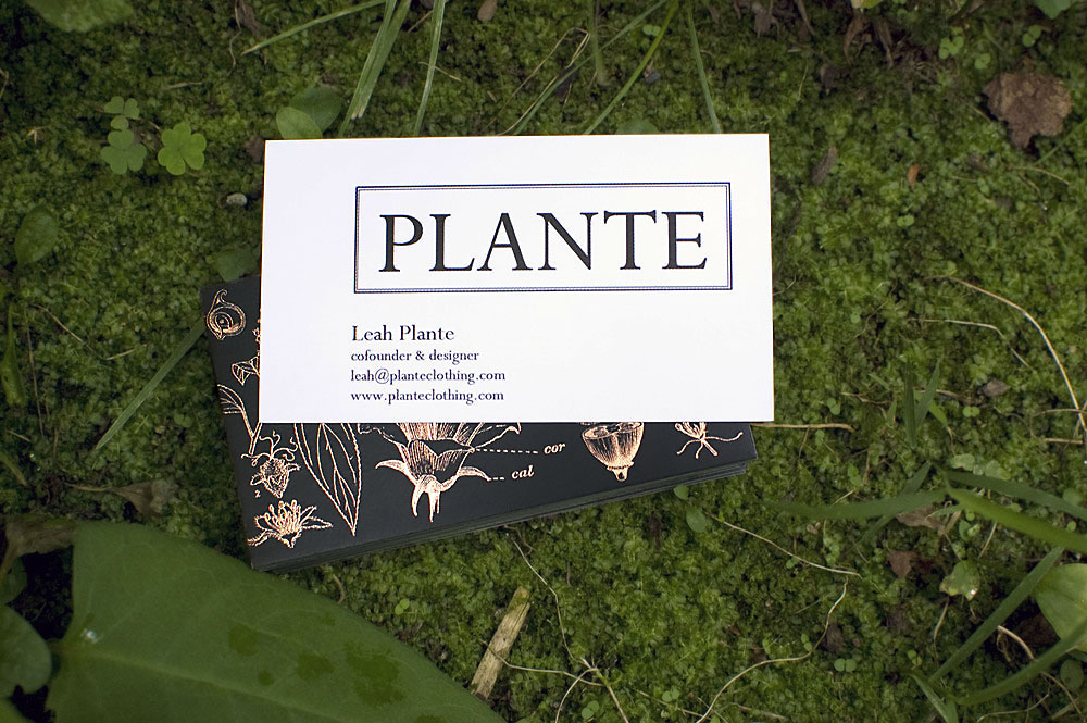 Plante business card