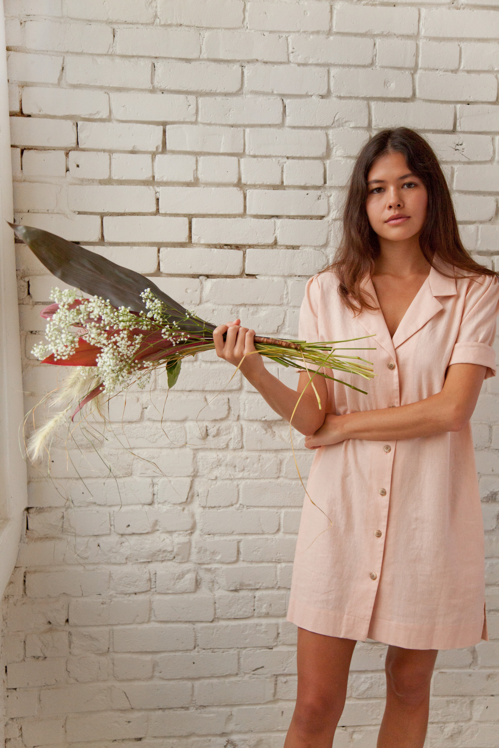 Juniper Dress is Rose Pink