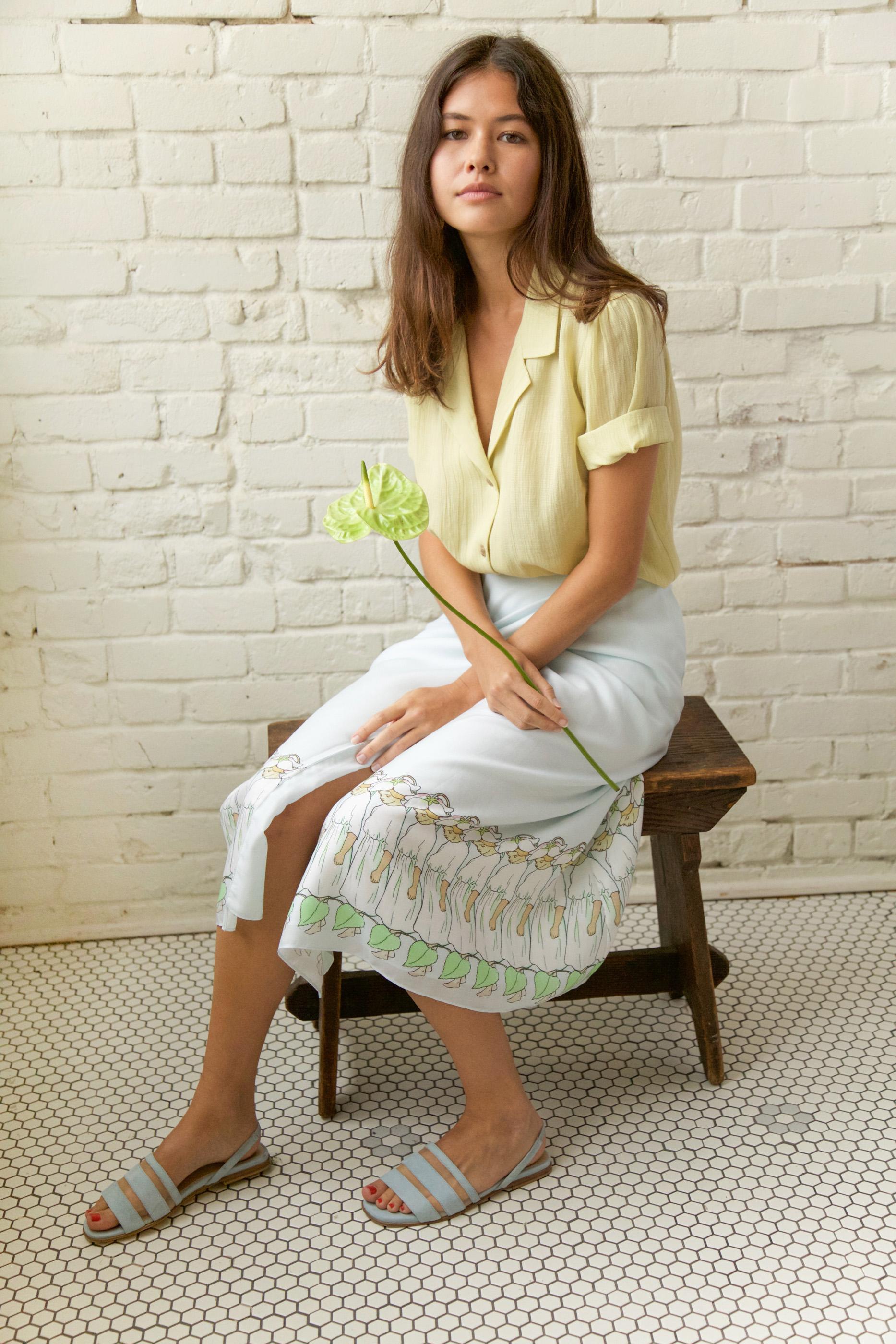 Marigold Skirt in Fairy Print