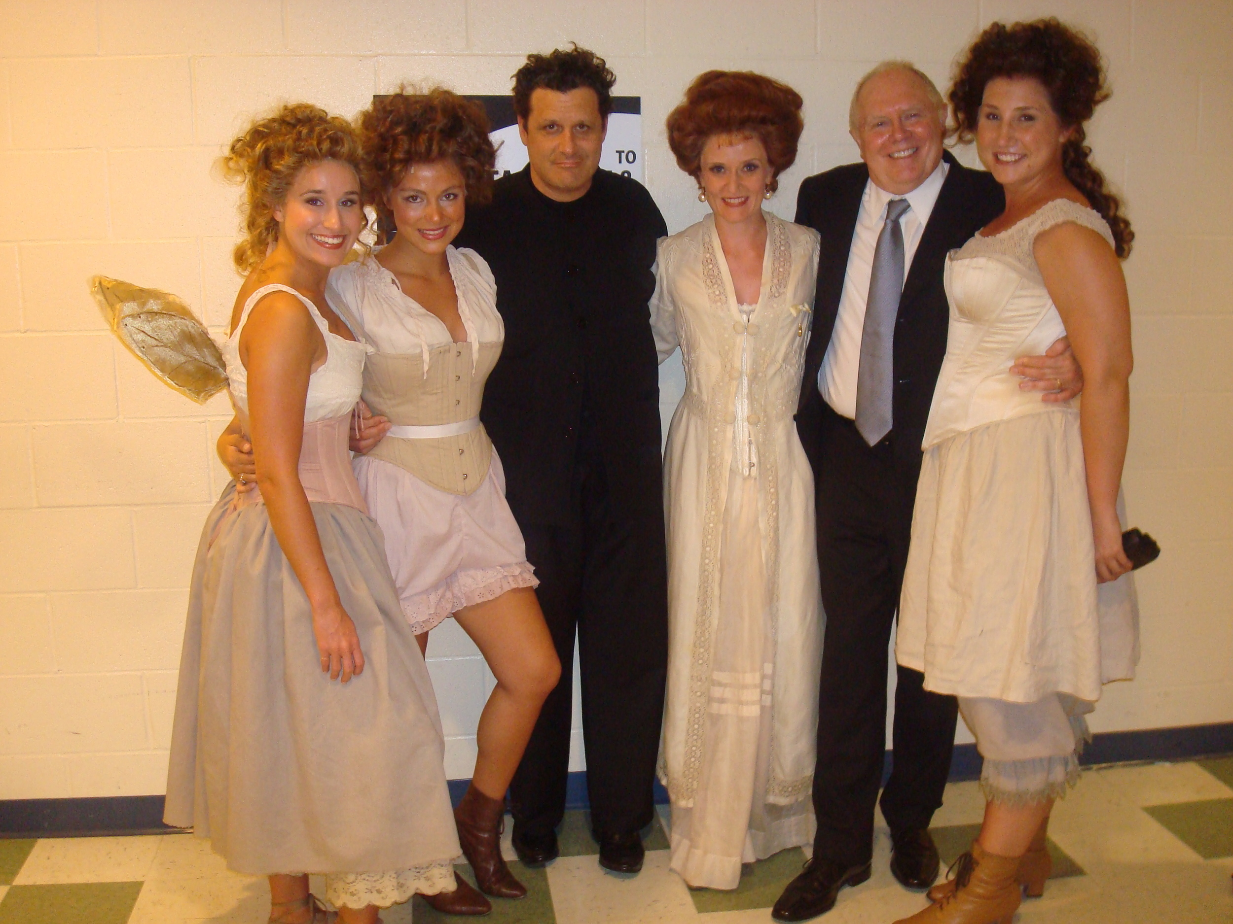 Lauren with Isaac Mizrahi and cast members of A Little Night Music
