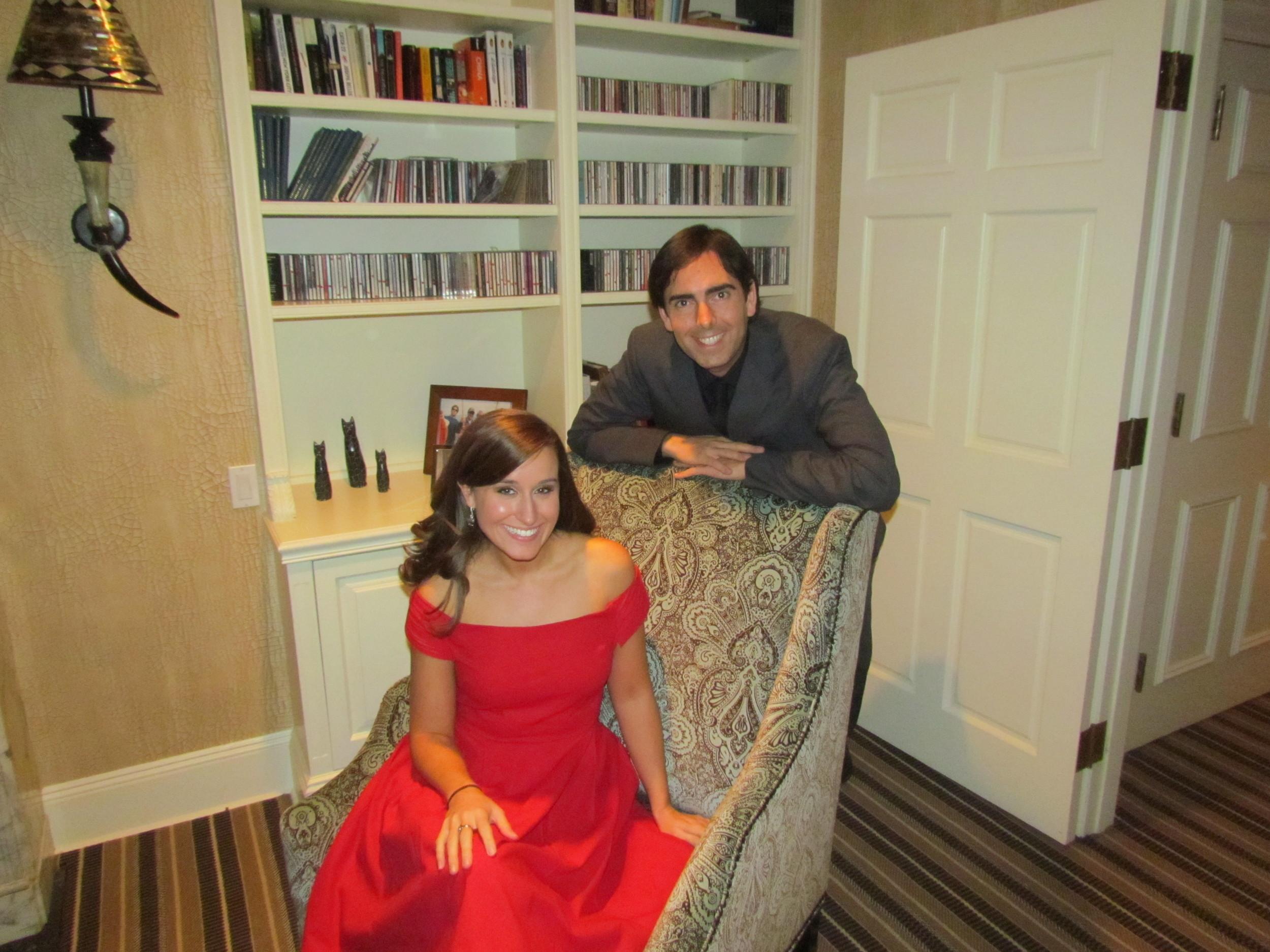 Lauren and her accompanist Shane Schag