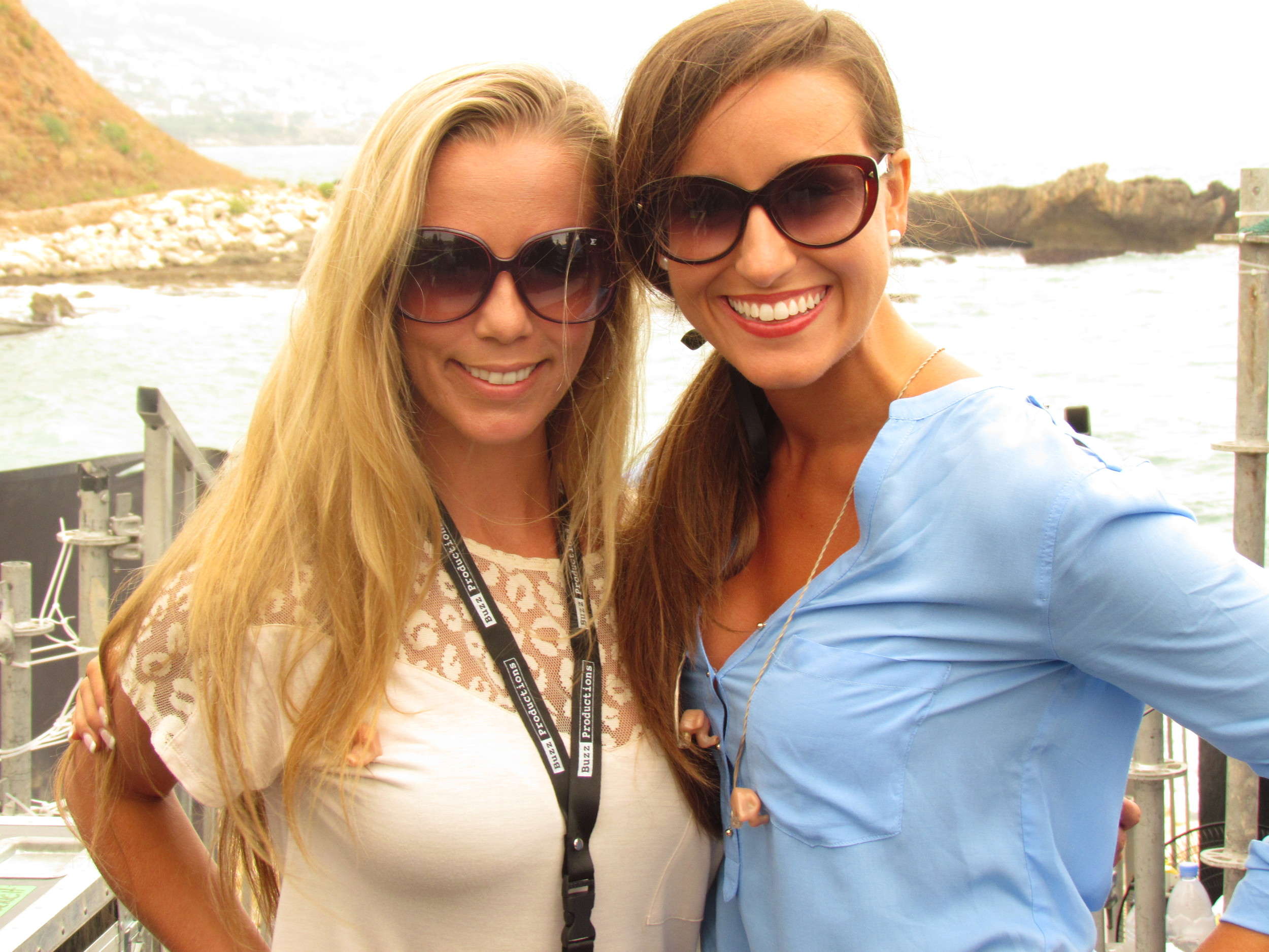 Lisa Lavie and Lauren at sound check at the Byblos Festival