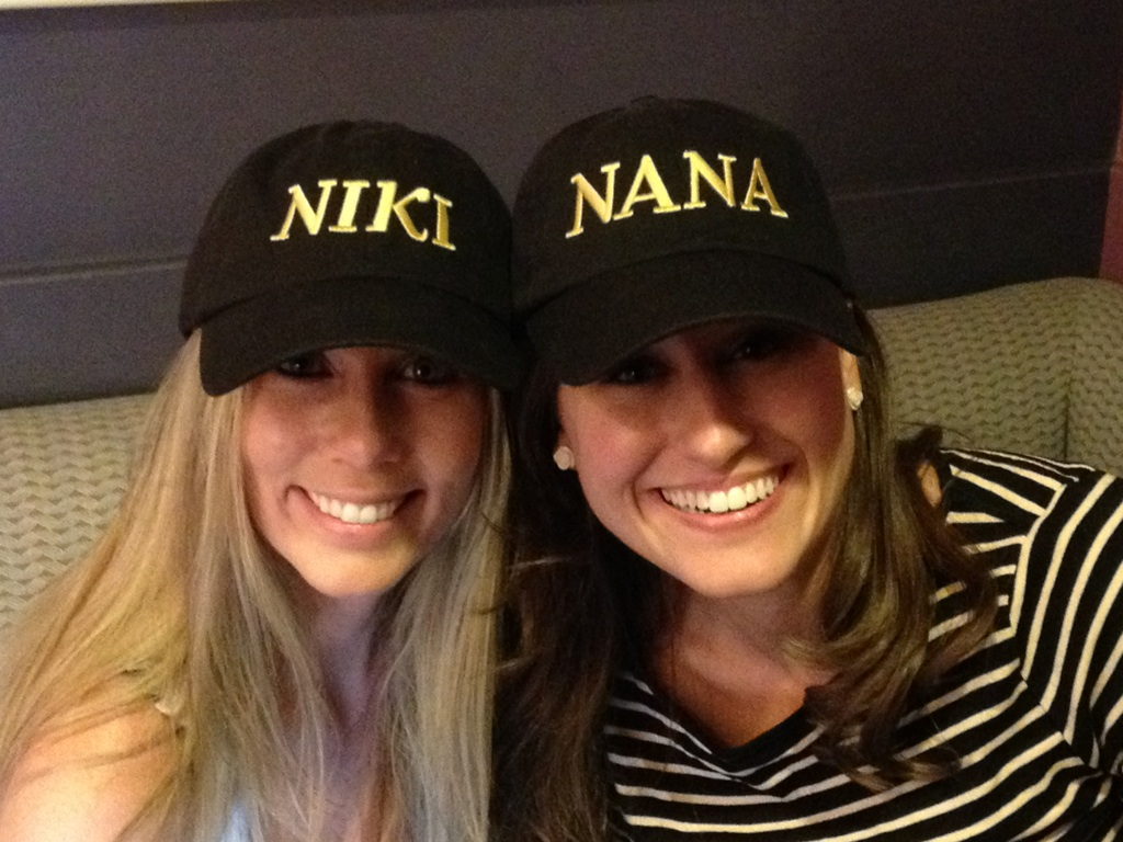 with Lisa Lavie backstage in hats made by a fan! :)