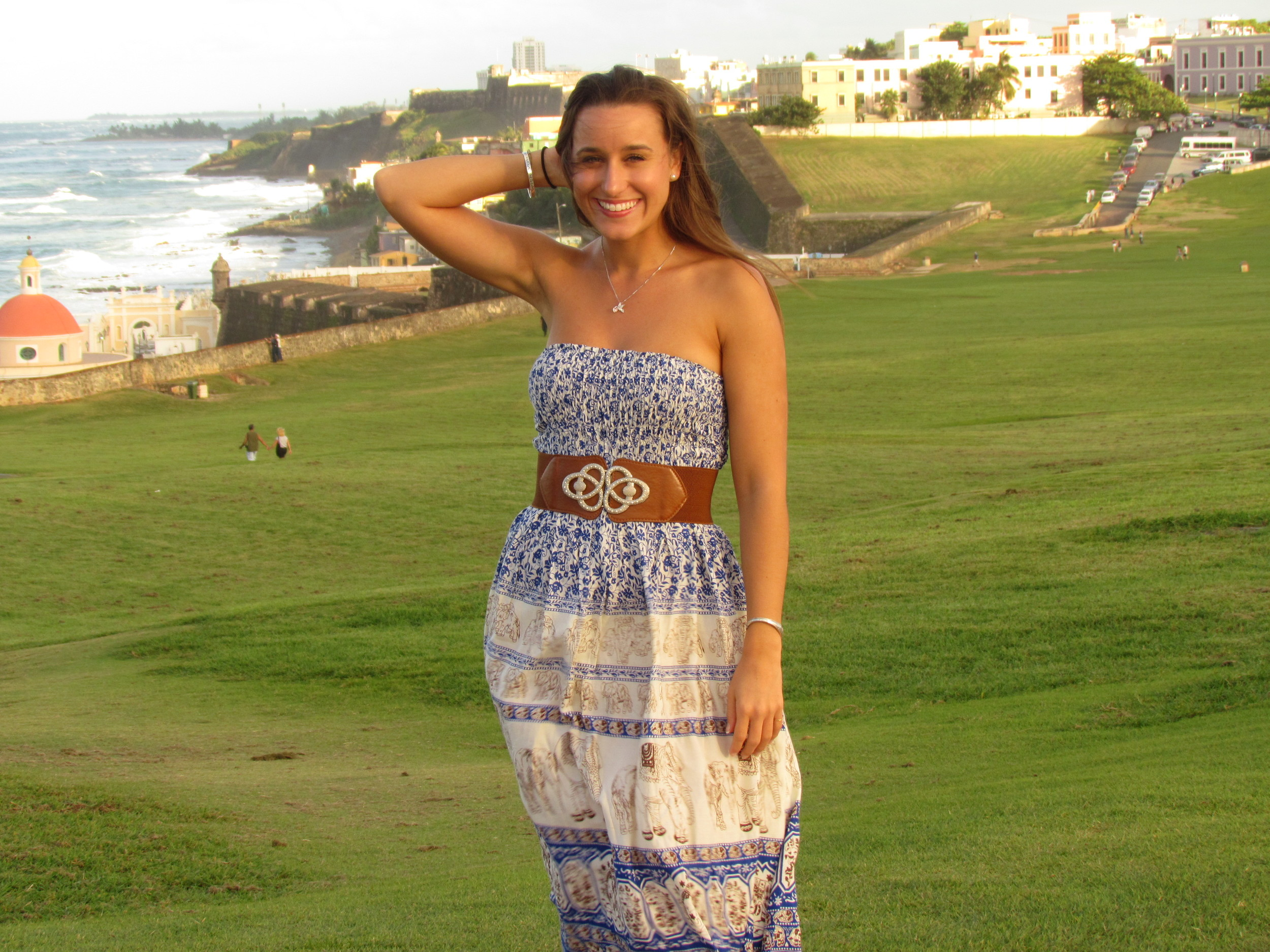 at El Morro in Puerto Rico before the filming of the PBS Special.