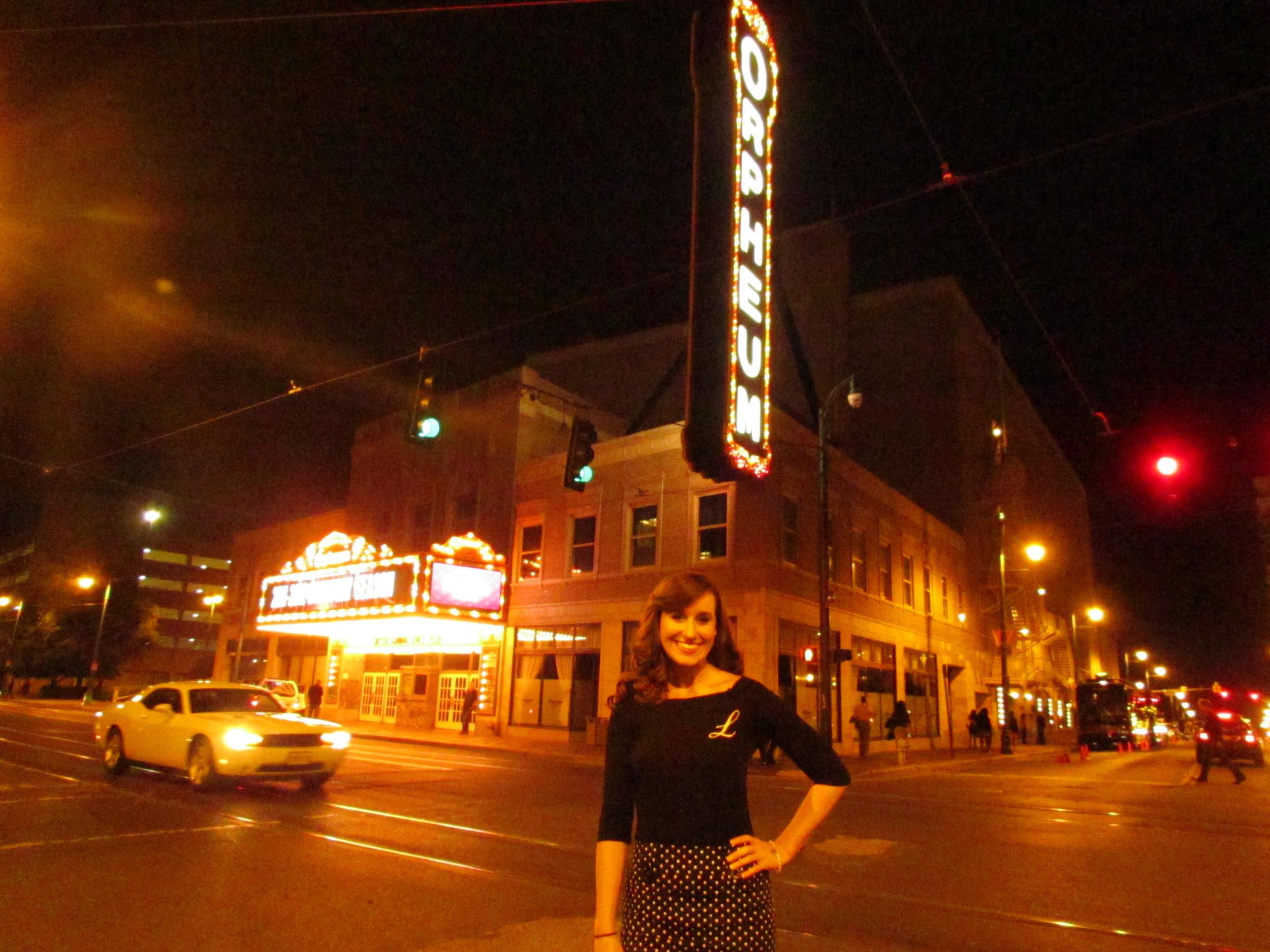 At the Orpheum Theatre in Memphis, TN.