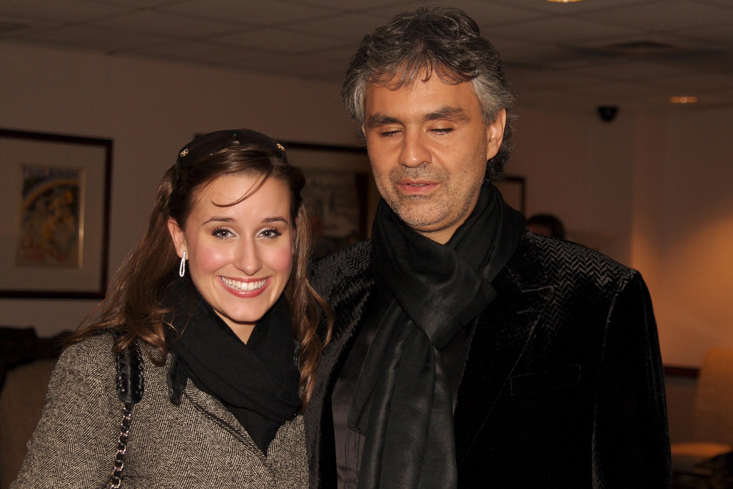 Lauren with Andrea Bocelli