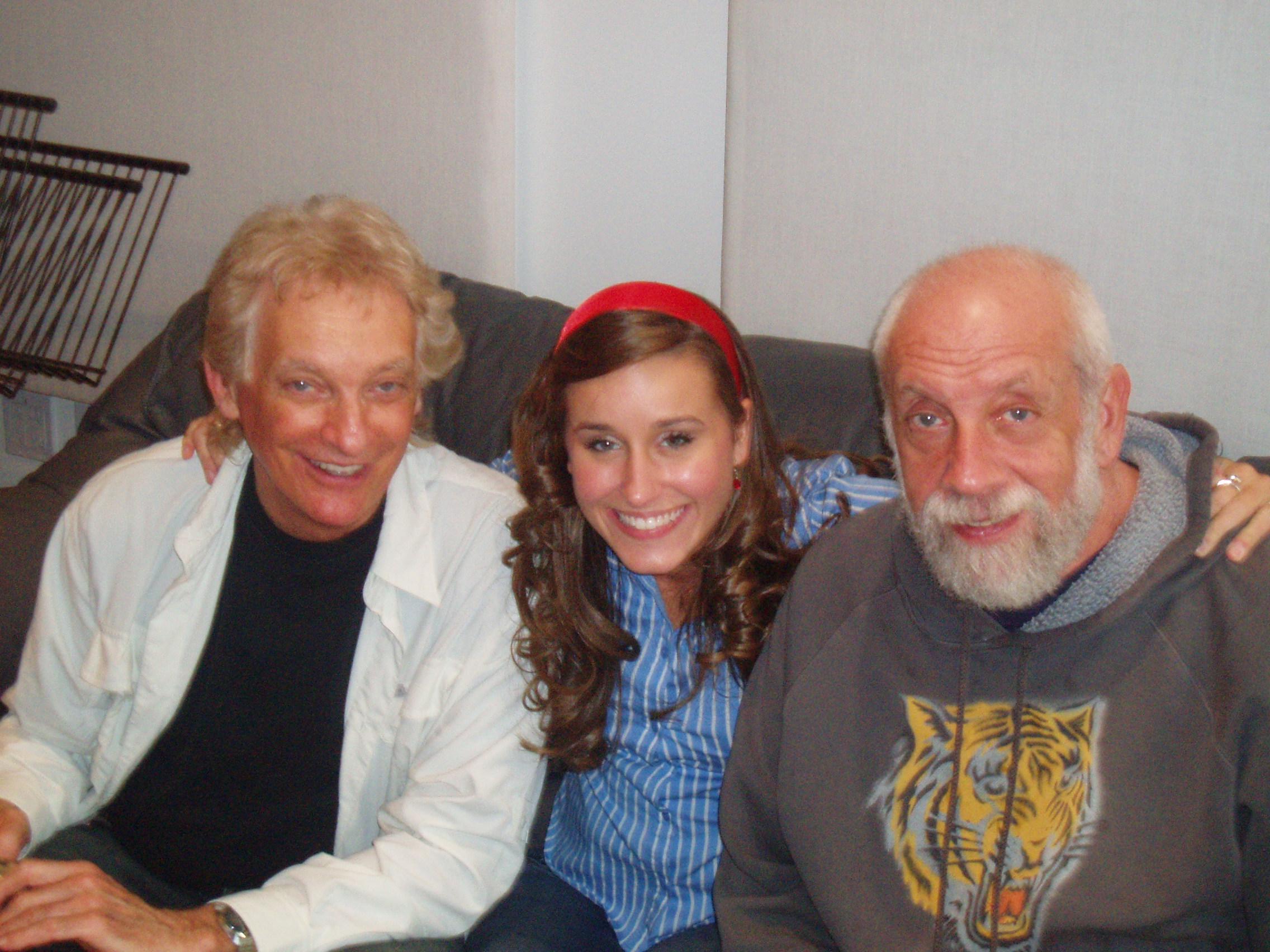 Lauren with Grammy award winning producers Joel Diamond and Joel Dorn