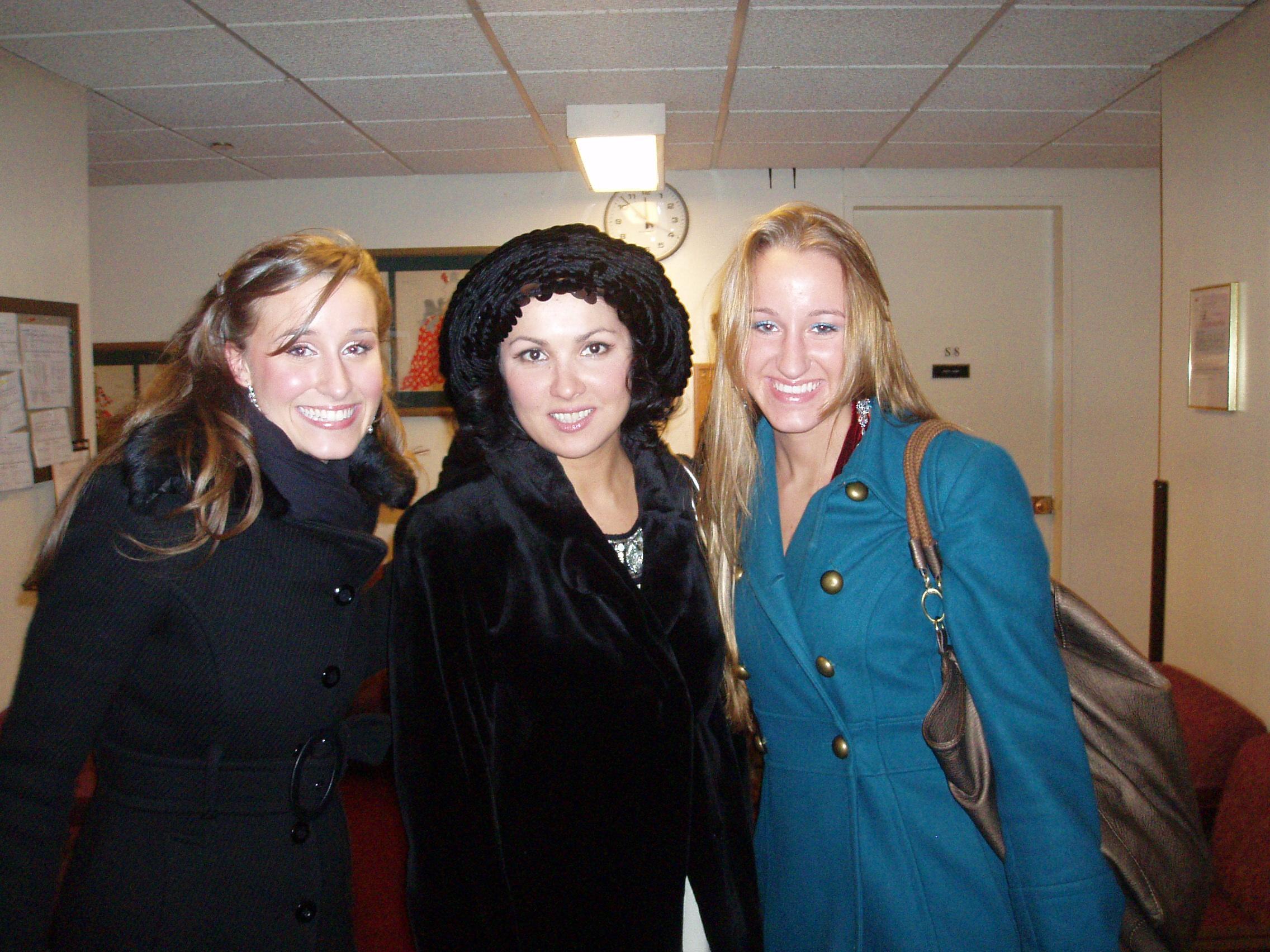 Lauren ad her sister with Anna Netrebko