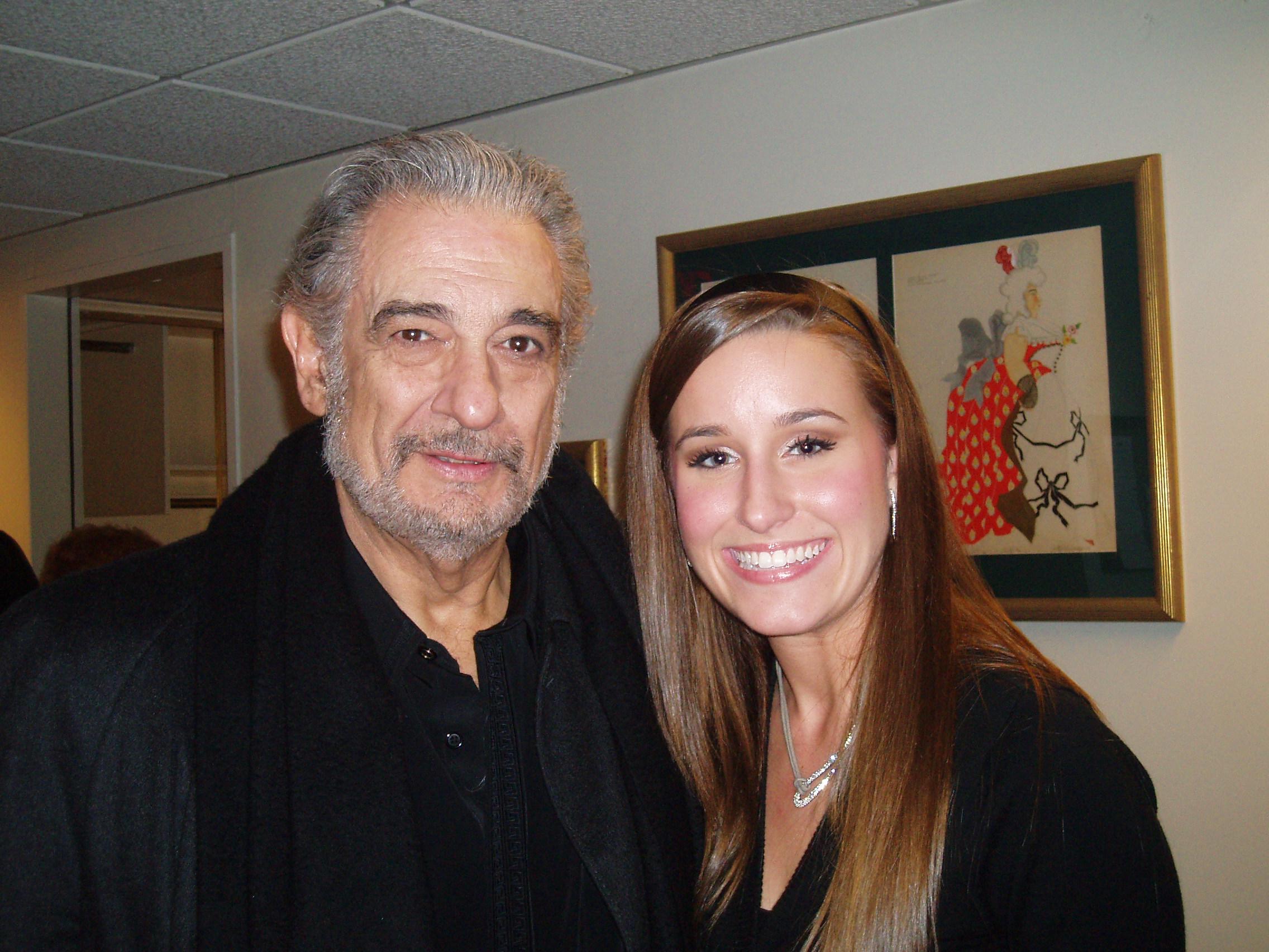 with Placido Domingo
