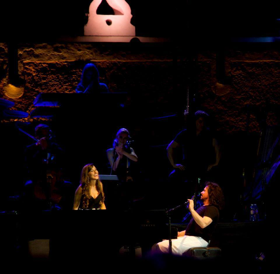 "Performing ""Nightingale"" in Izamal, Mexico with Yanni"