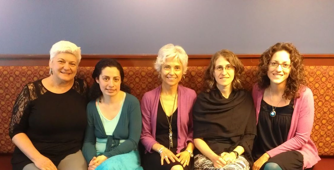 June 2013 with Lisa Leger, Mariana Bernstein, Laura Wershler, Ilene Richman, and Colleen Flowers
