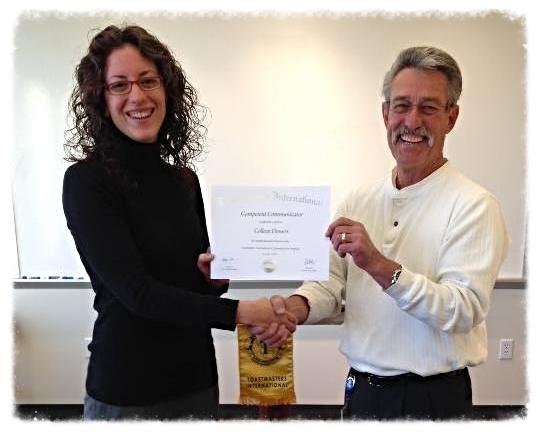 Toastmasters International Competent Communicator Award (CC) - 2013