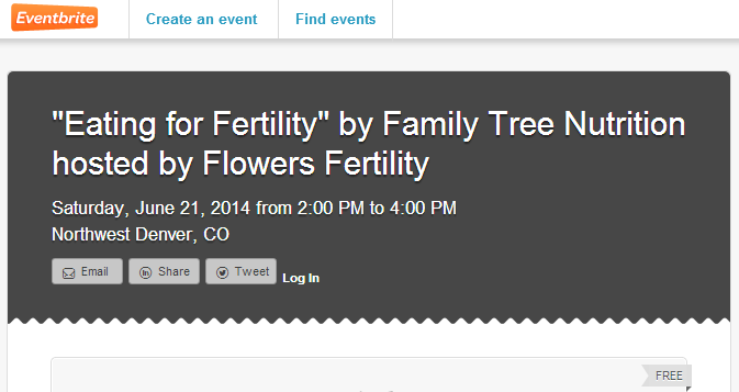 FlowersFertility EventBrite EatingForFertility
