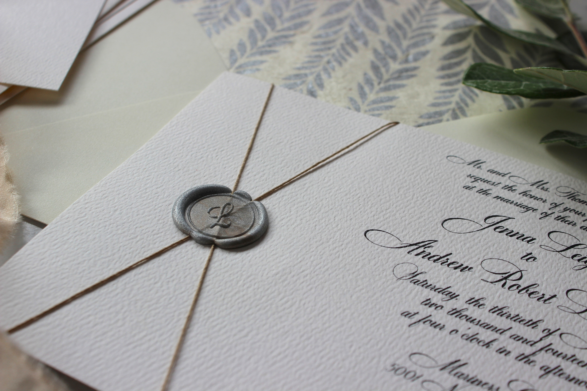Wax Seal Invitations | Victoria Austin Designs