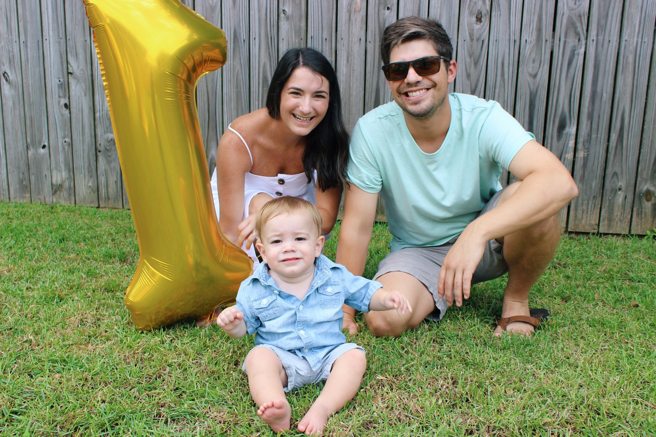 First Birthday, Baby Boy, 1, Family Photo