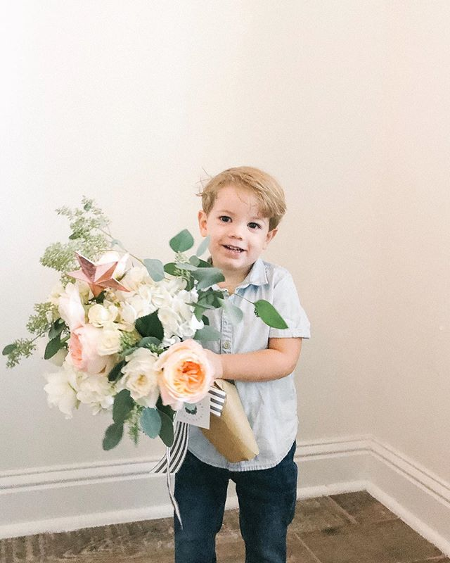 Heartbreaker, you got the best of me. 🎶 Oh just my little boy with arms full of flowers for his teacher. I can't handle him, I'm glad Mrs. Janet can! 💔 @wildflowersfairhope #birthdayblooms #boymom http://liketk.it/2Fd9g #liketkit @liketoknow.it #LTKkids