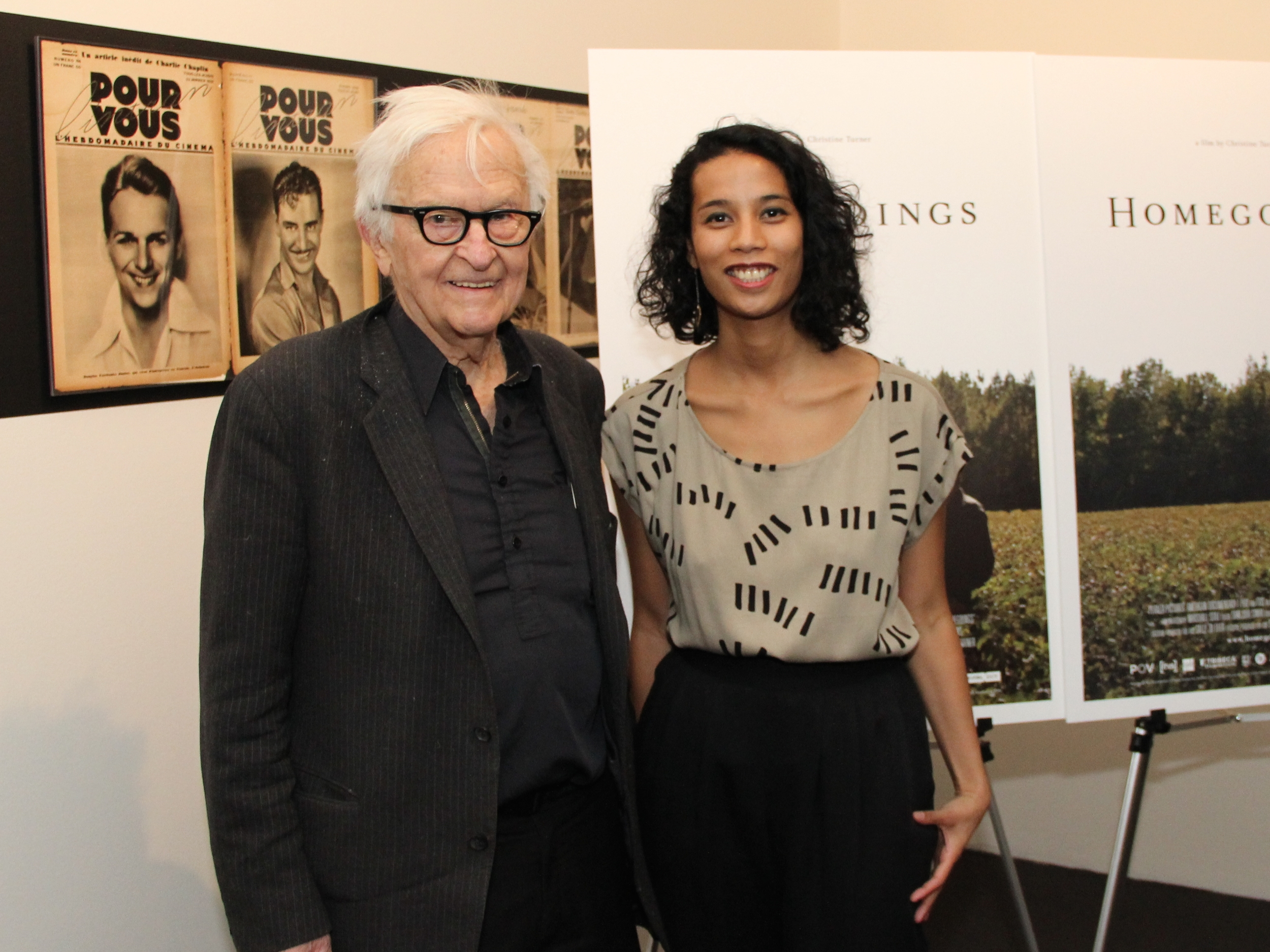 With documentarian Albert Maysles at the Museum of Modern Art, New York.