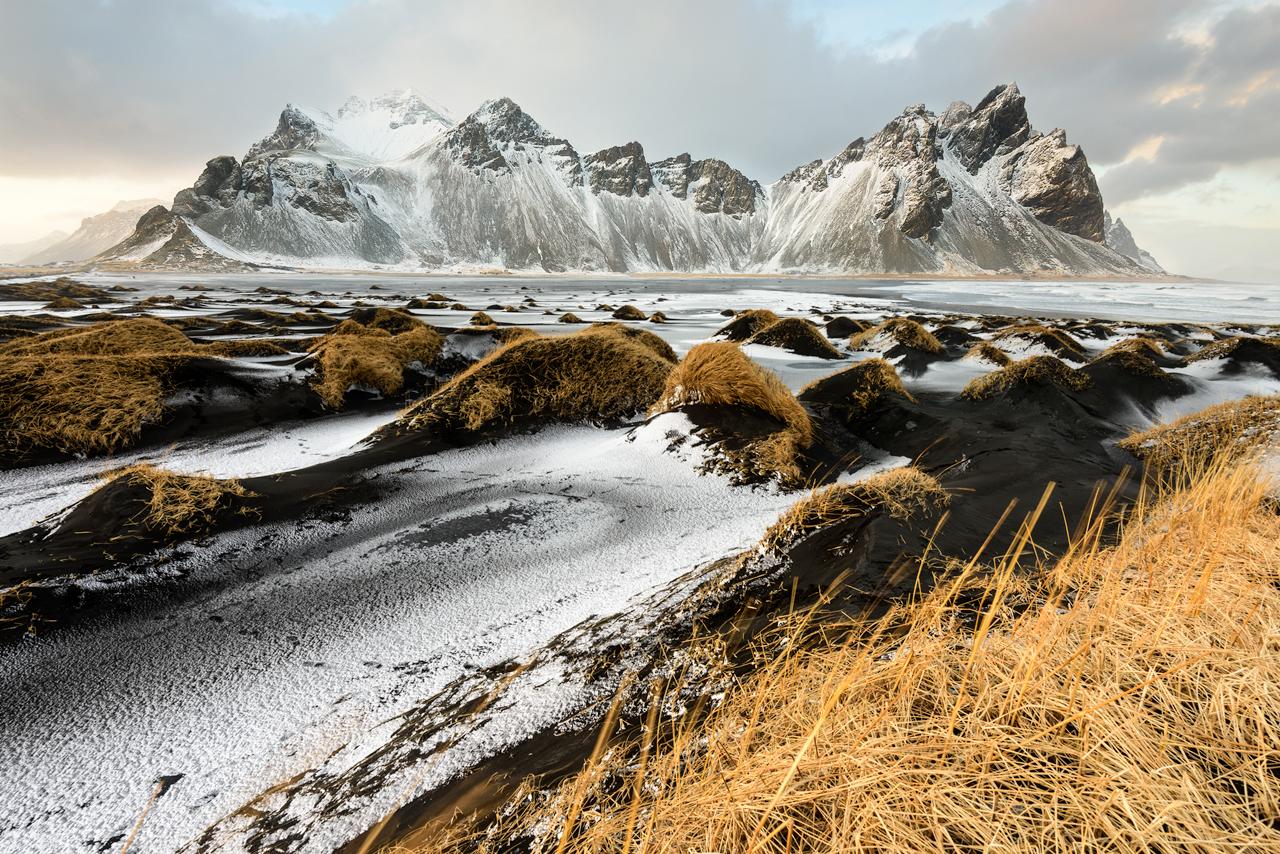 Vestrahorn Mountain and Black Sand Dunes