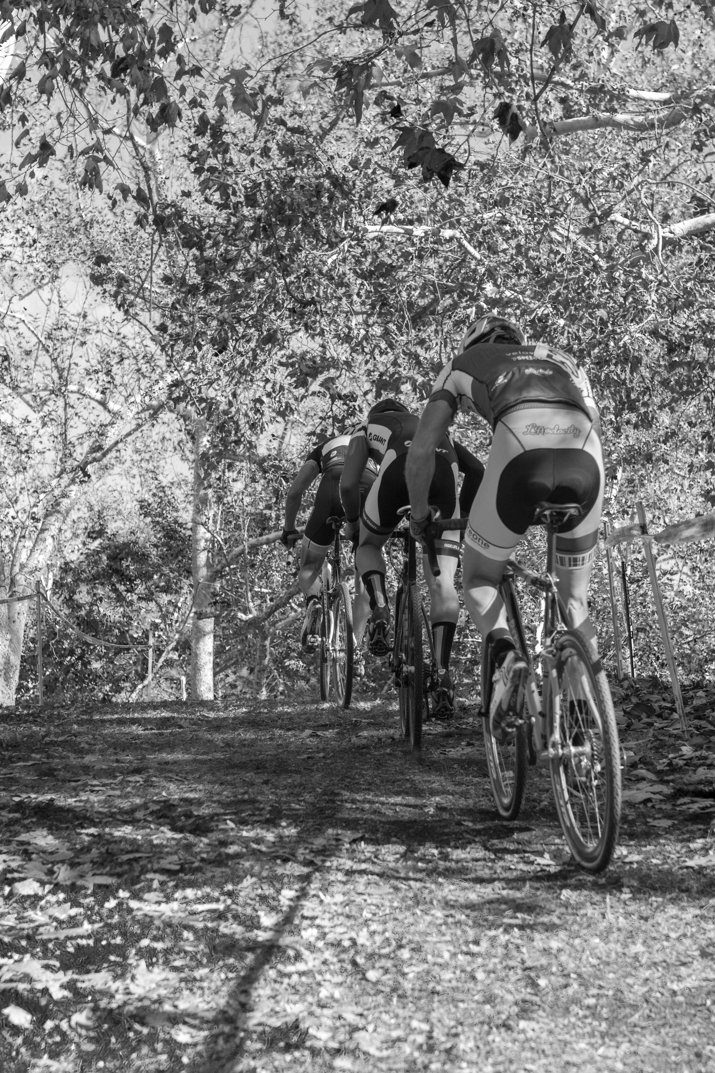 8. Riders hammer up the hill at Turkey Trot Cross.