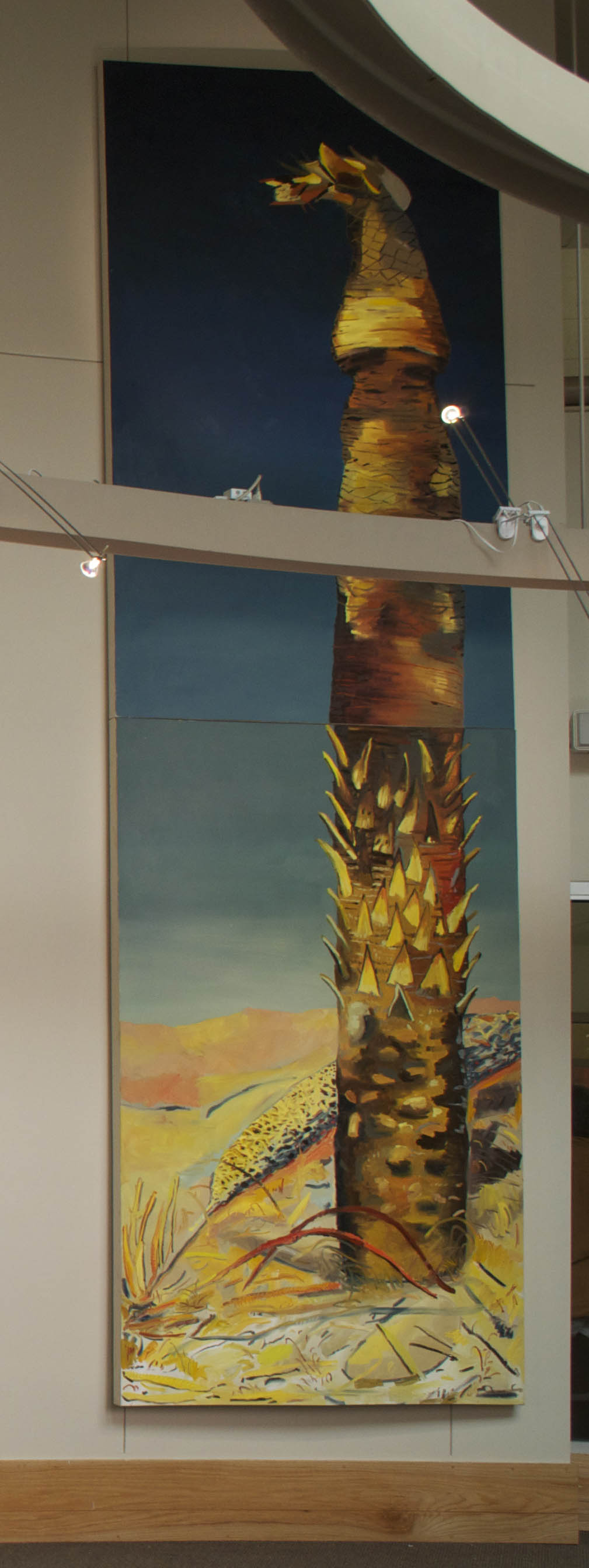 Dead Palm, oil on canvas, 60x190 inches.