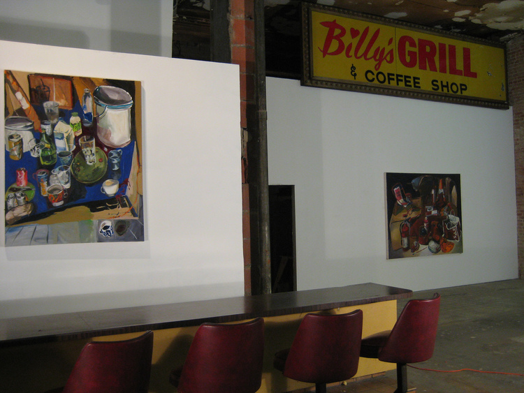 Installation view of  Debut , INMO Gallery, Los Angeles, CA, 2007.