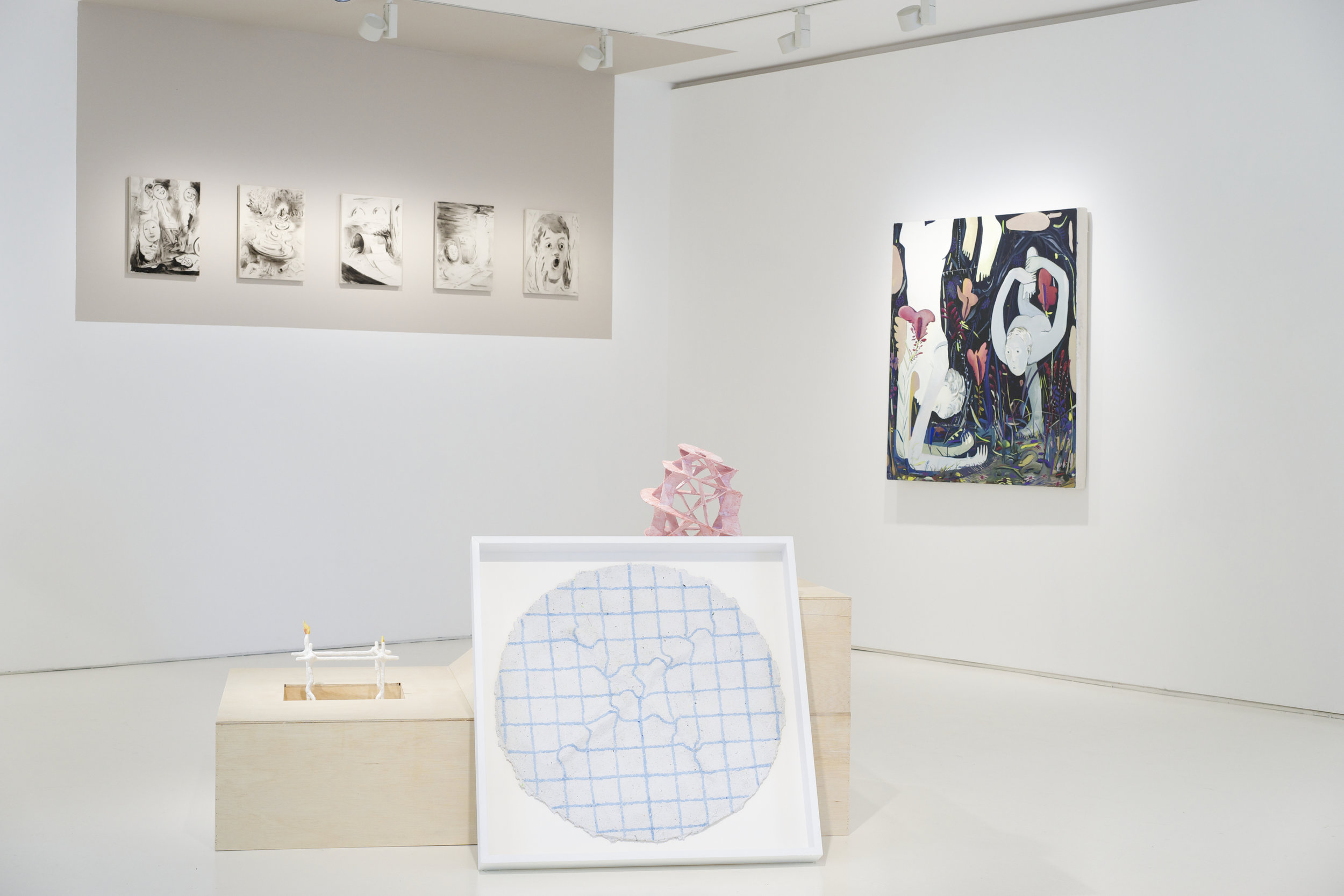Installation view of group show,  Klaus/Someone Else's Map,  curated by Hayama Projects, Yeo Workshop, Singapore.