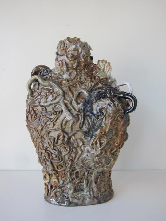 Stoneware and Glaze, 15 x 10 x 6 inches, 2017.