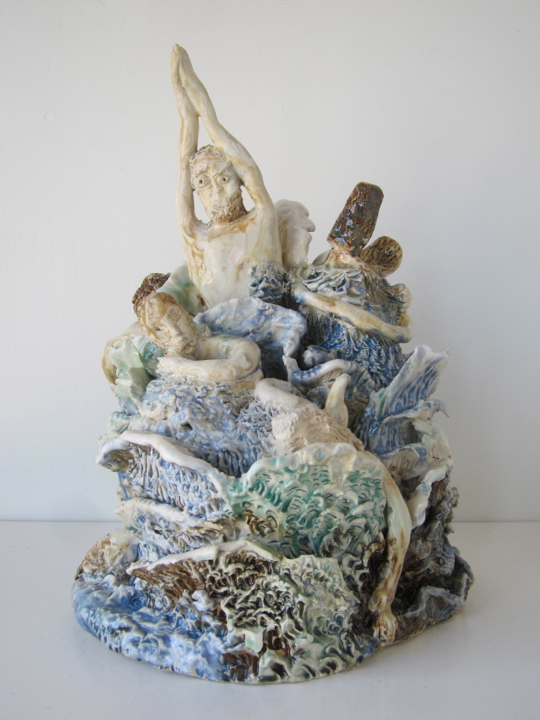 Stoneware and Glaze, 12x8x8 inches, 2017