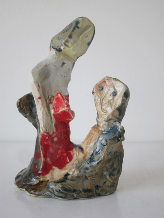Stoneware and Glaze, 5 x 3 x 2 1/2 inches, 2014.