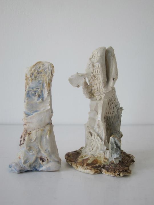 Stoneware and Glaze, 4 x 2 1/2, 4 x 2 inches, 2014.