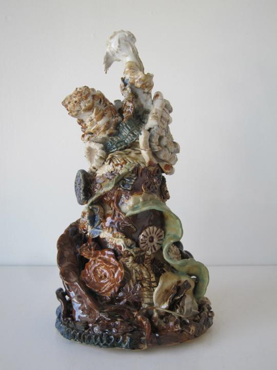 Stoneware and Glaze, 10 x 5 x 5 inches, 2017.