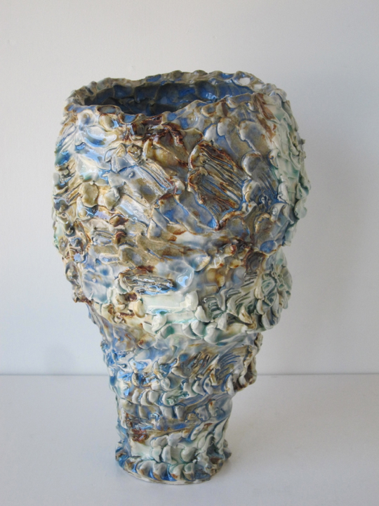 Stoneware and Glaze, 12 x 7 x 7 inches, 2017.