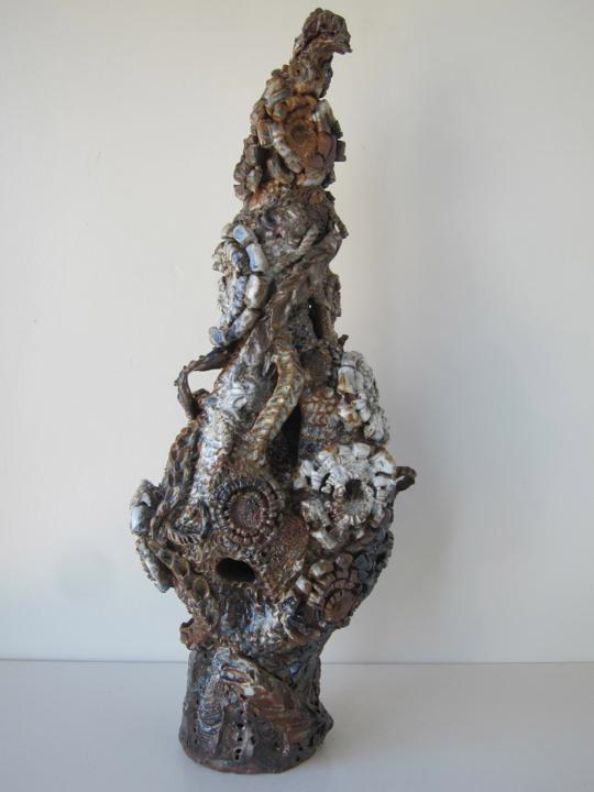 Stoneware and Glaze, 24 x 9 x 8 inches, 2017.