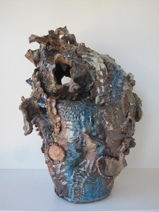Stoneware and Glaze, 10 x 12 x 13 inches, 2017.