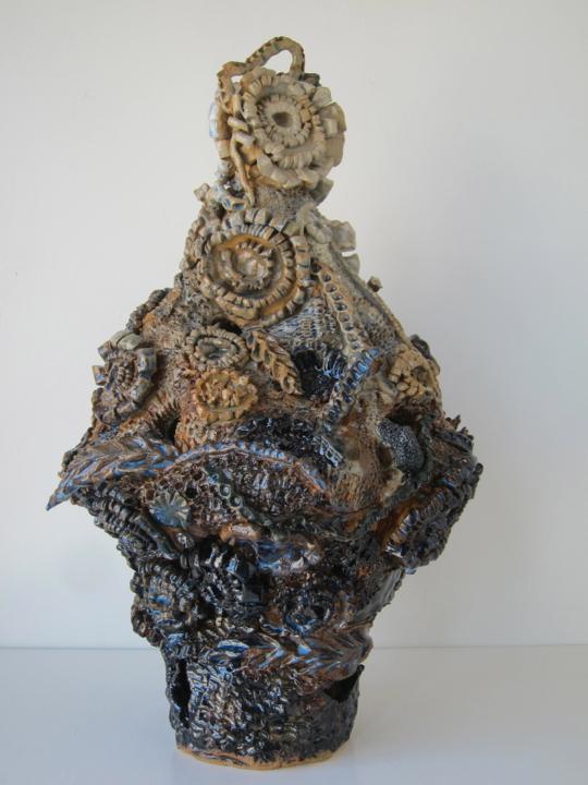 Stoneware and Glaze, 20 x 11 x 11 inches, 2017.