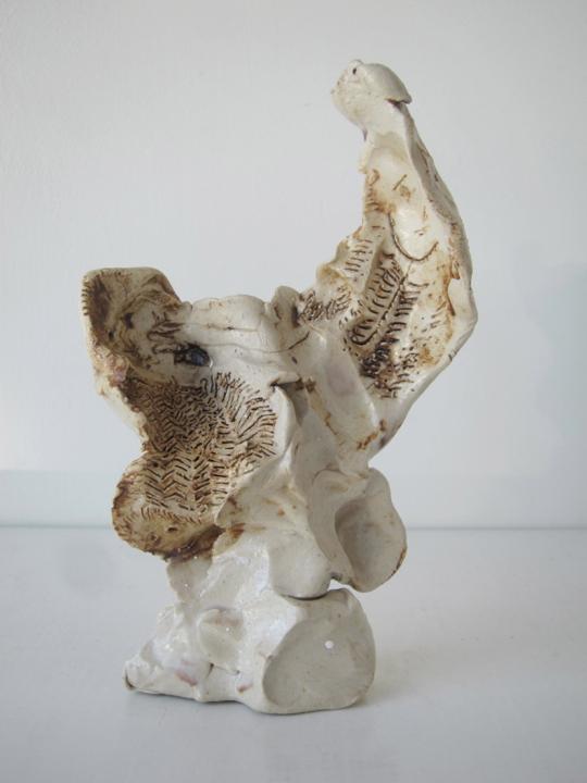 Stoneware and Glaze, 6 1/2 x 5 x 2 inches, 2014.