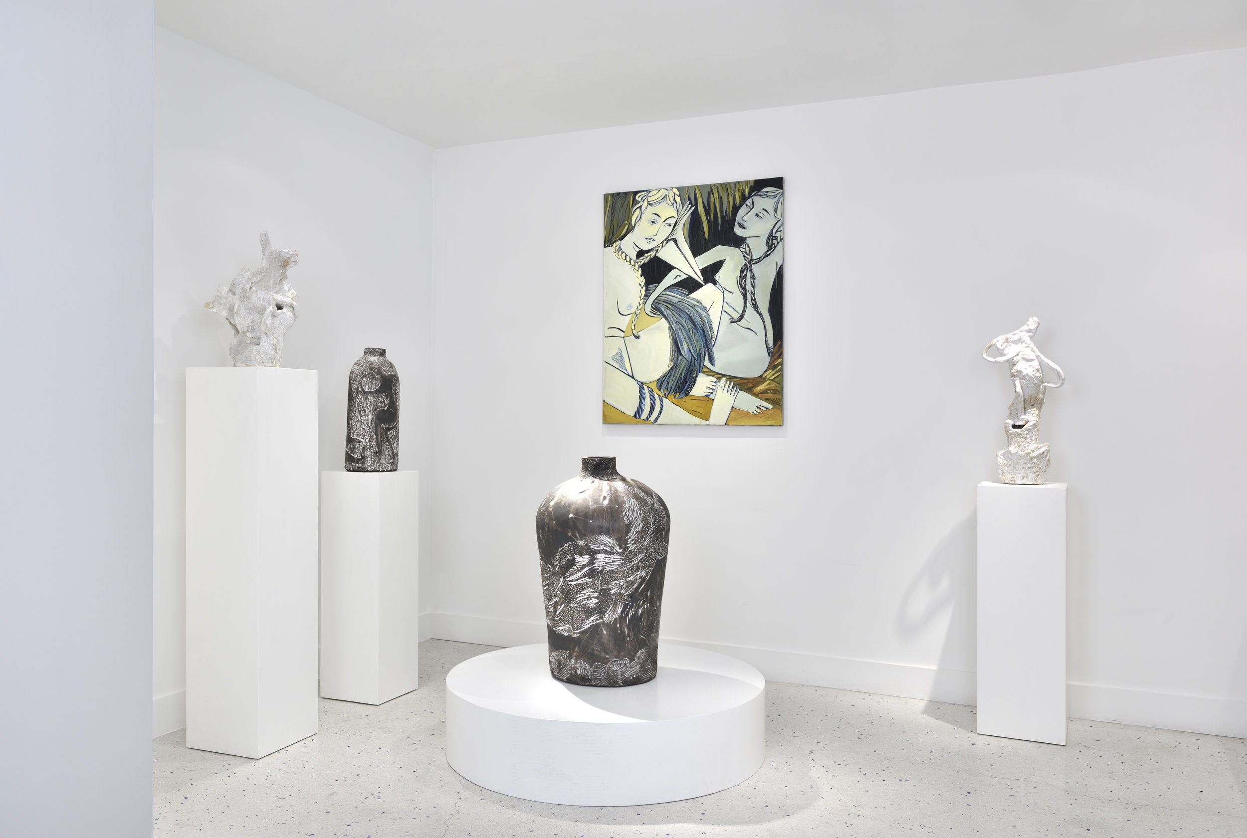 Installation View,  Fountain ,Galerie Lefebvre et Fils, Paris, France, 2017. Photo by Rebecca Fanuele.
