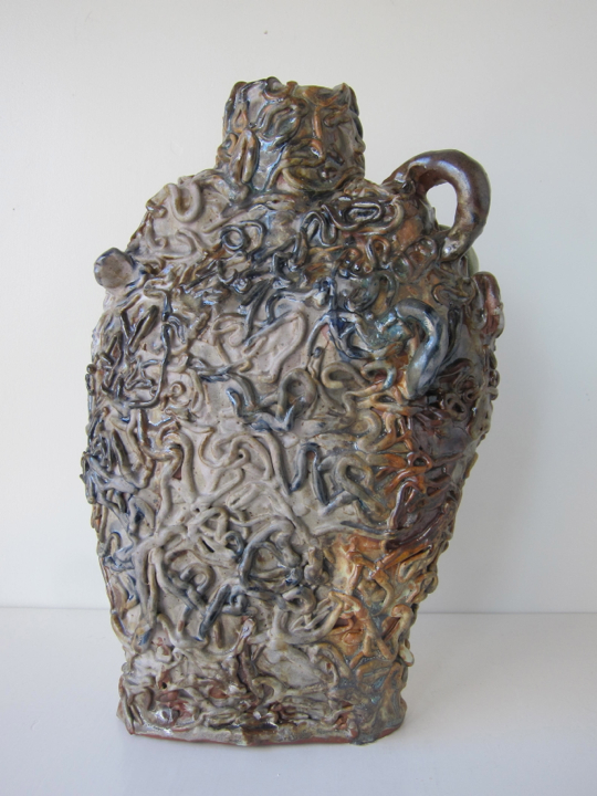Untitled, 15x10x6 inches, stoneware and glaze, 2017. (06.100.CER) Produced in the spring in CO for exhibition Tidal at South Willard. Photo credit South Willard © Courtesy of Jasmine Little. In private collection.