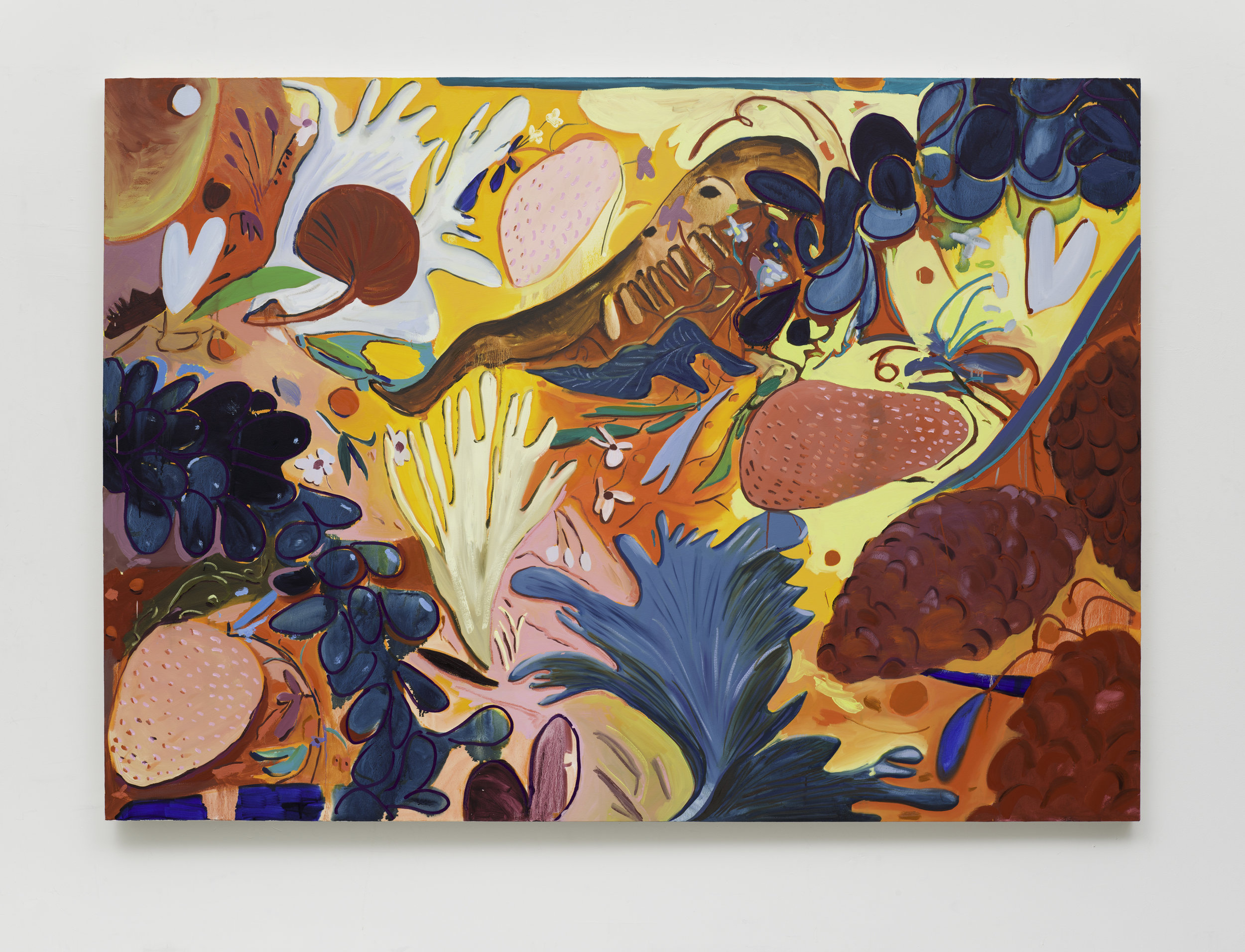"Fruit Still Life 4, Oil on Canvas, 66""x92""."