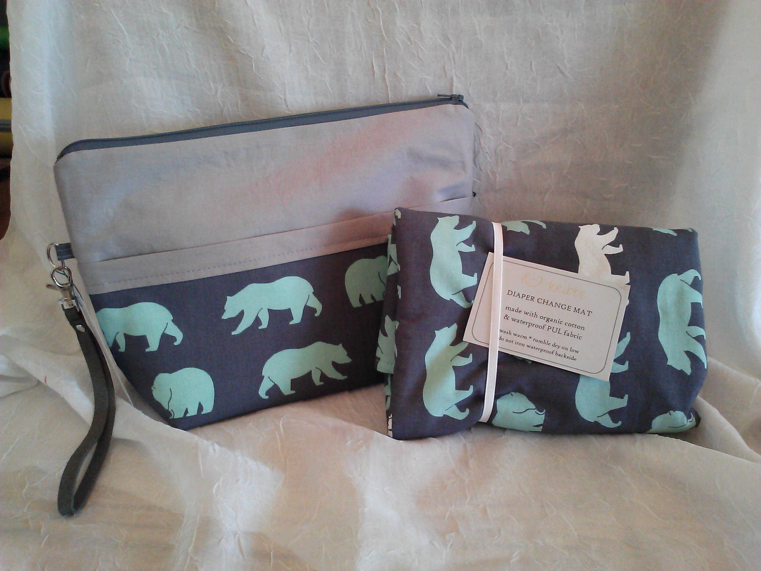 Portable Diaper Pouch with Changing Mat - Locally Handmade    $49.95    Wants 1  PURCHASED