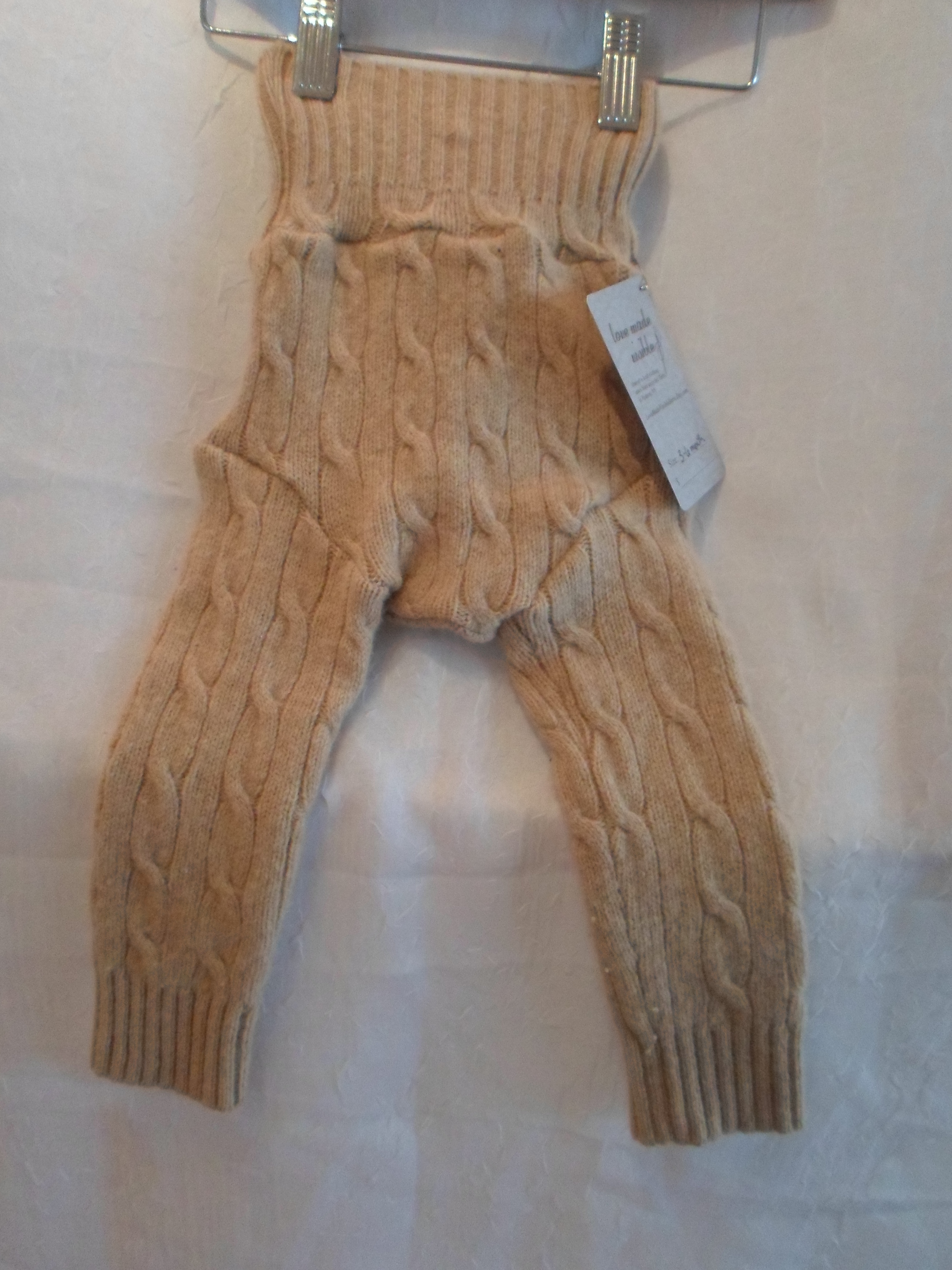 Upcycled Wool Pants -Tan size 3-6m   Locally Handmade   $25    Wants 1