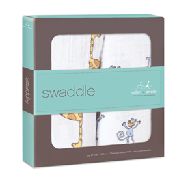 Aden & Anais Muslin Swaddle 2pk in Jungle Jam    $32.00    Wants 1 PURCHASED