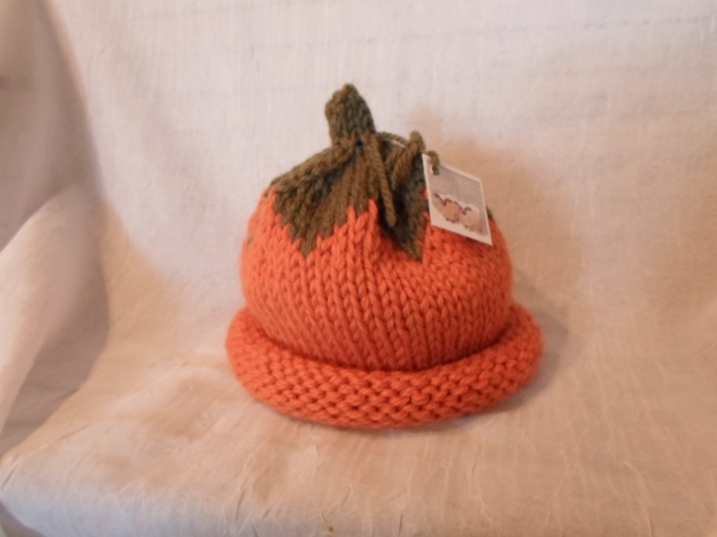 Hand Knit Wool Pumpkin Hat- Infant size   Locally Handmade   $35.95    Wants 1 PURCHASED