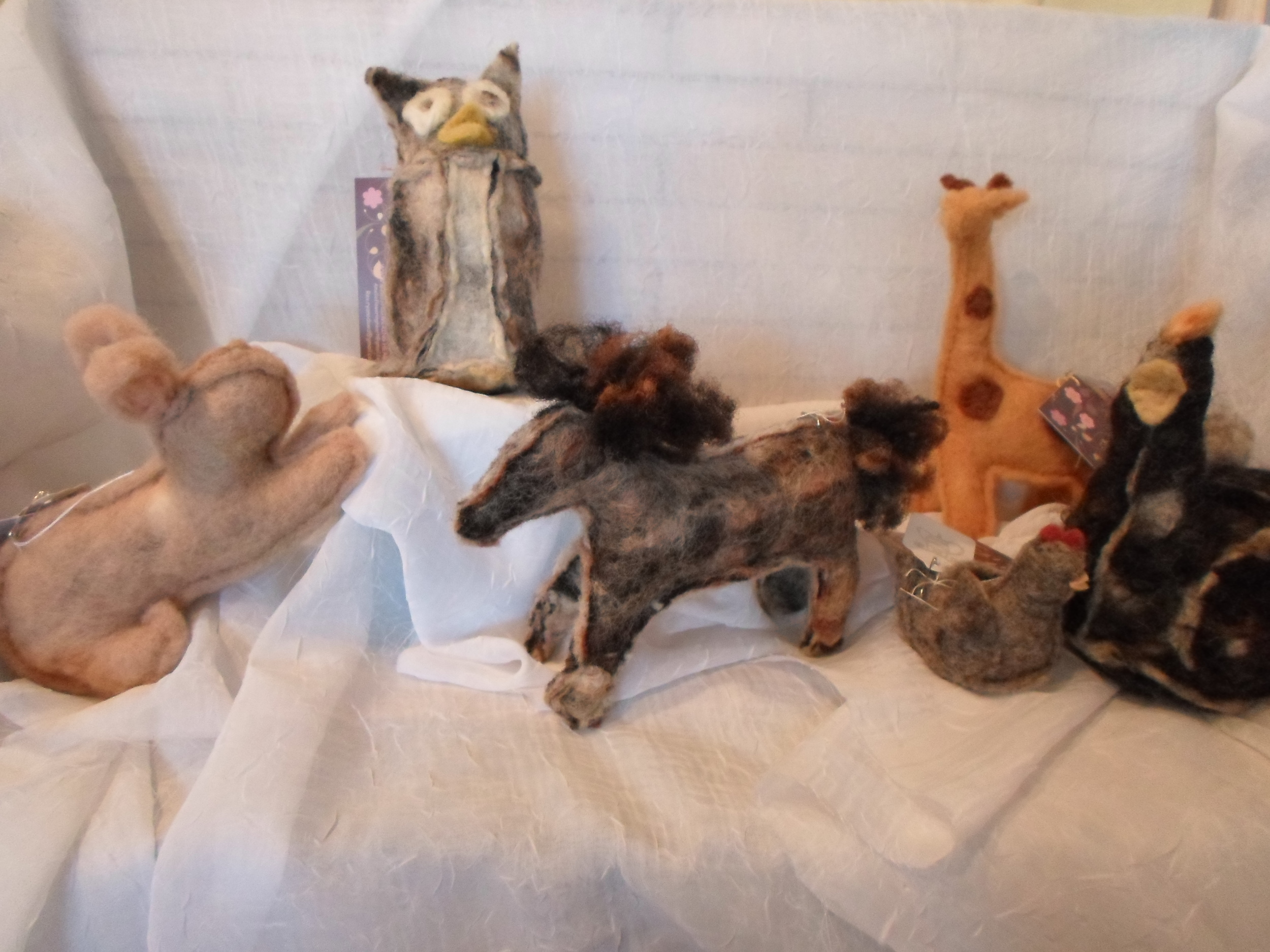 Flowering Heart Farm Wool Felted Animals - your choice -  Locally Handmade   $13+    Wants 1+