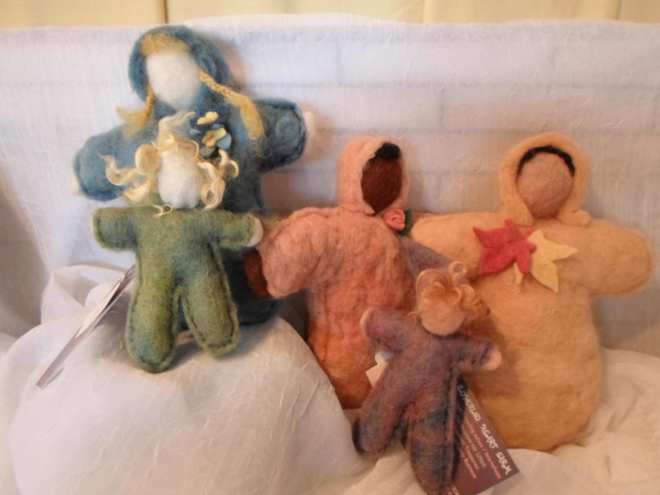 Flowering Heart Farm Wool Felted dolls - your choice -  Locally Handmade   $13+    Wants 1+