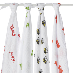 Aden & Anais Muslin Swaddle 4pk in Mod About Baby    $49.95    Wants 1  PURCHASED