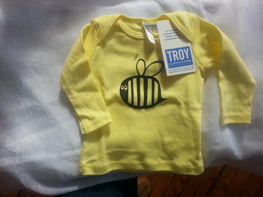 Troy Cloth & Paper Long Sleeve Bee Tee size 3-6m  Locally Handmade   $16.00    Wants 1  PURCHASED