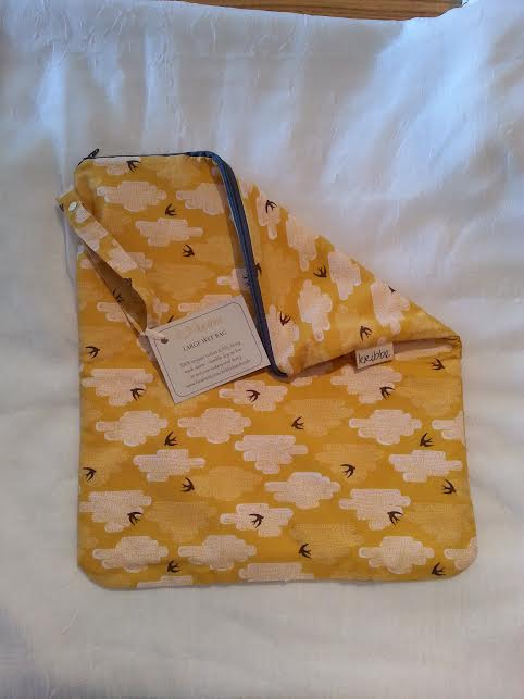 Kribbe Organic Large Travel Wet Bag  Locally Handmade   $23.00    Wants 1  PURCHASED