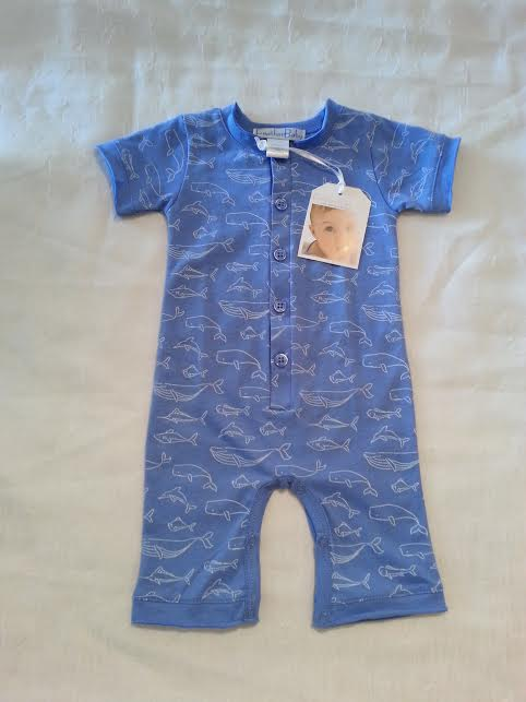 Feather Baby Pima Cotton Short Romper in 0-3m    $37.95    wants 1  PURCHASED