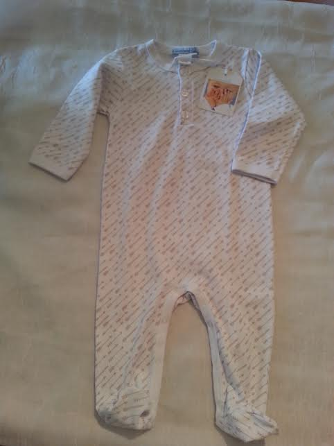 Feather Baby Pima Cotton Footed Romper in 6-9m    $36.95    wants 1  PURCHASED